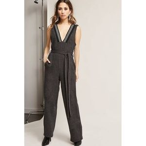 French Terry Wide-Leg Jumpsuit